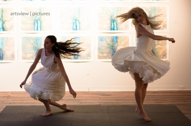 "Dancers Anna M. Maynard and Brooks Owens in ""Dances with Dear Nature"""