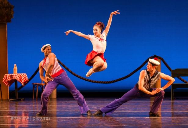 Eugene C. Barnes, Jan Burkhard and Adam Schiffer in A La Francaix, choreography by George Balanchine