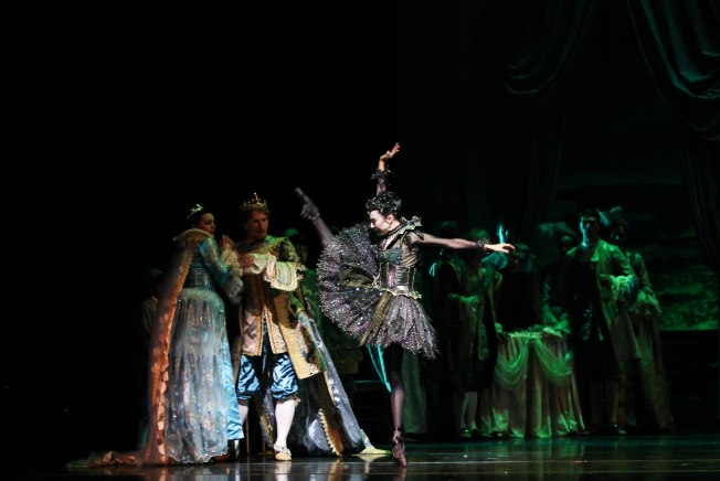 Hi-yah! Lindsay Purrington as Carabosse in Sleeping Beauty